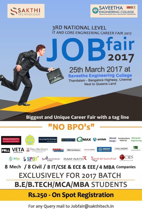 3rd National Level IT and Core Engineering Career Fair 2017