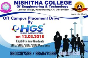 HGS Off Campus Drive Hyderabad